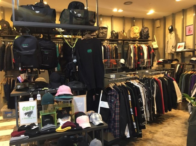 Various street fashion items are on display at Take a Street, Hongdae. (Take a Street)