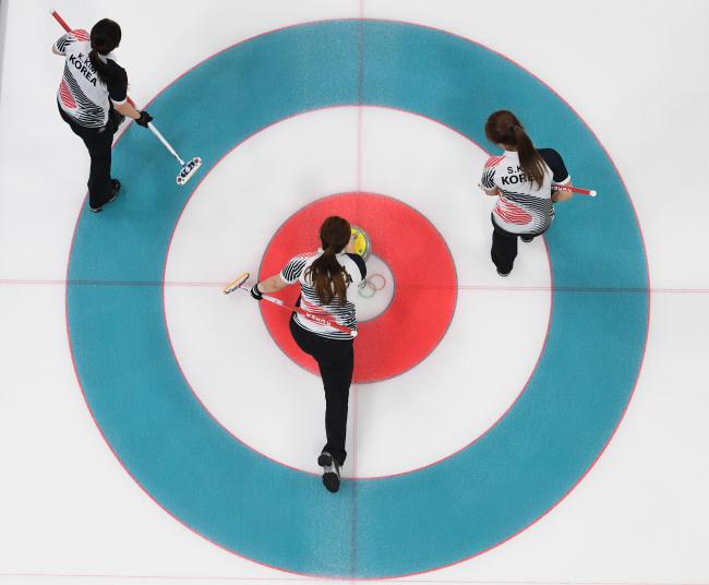 South Korean women`s curling team (Yonhap)