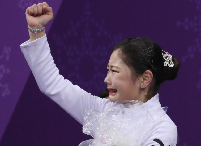 Kim Ha-nul, the youngest South Korean athlete at this Olympics at age 15, finished 13th also with her personal best score of 175.71. (Yonhap)