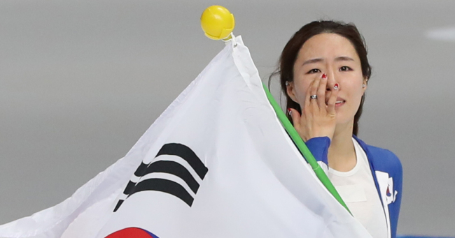 Lee Sang-hwa, South Korea's two-time defending Olympic champion, won silver in what could possibly be her last Olympics (Yonhap)