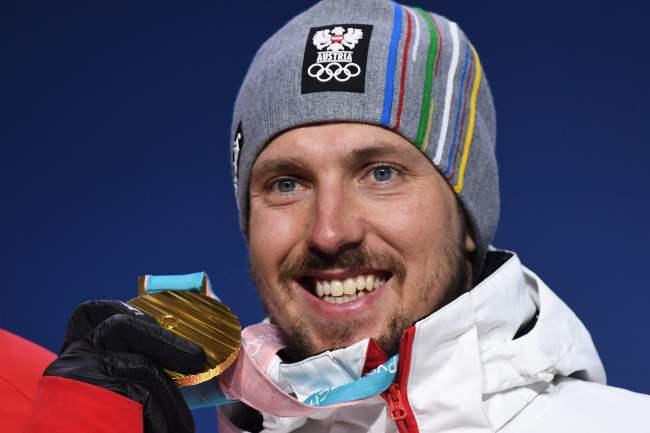 Austrian alpine skier Marcel Hirscher won three gold in the men's alpine combined, giant slalom and Super-G. (Yonhap)