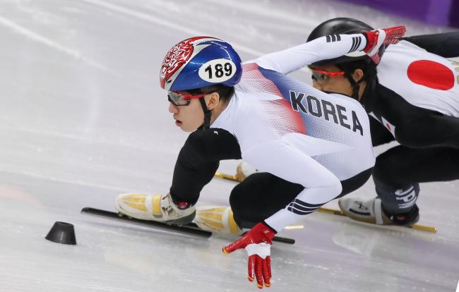 South Korea short track skater Lim Hyo-jun won two gold medals at PyeongChang (Yonhap)
