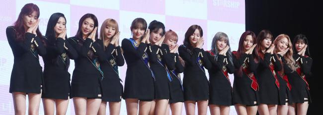 "WJSN performs ""Dreams Come True"" at a media showcase Tuesday at Yes24 Live Hall, Gwangjin-gu of Seoul. (Yonhap)"