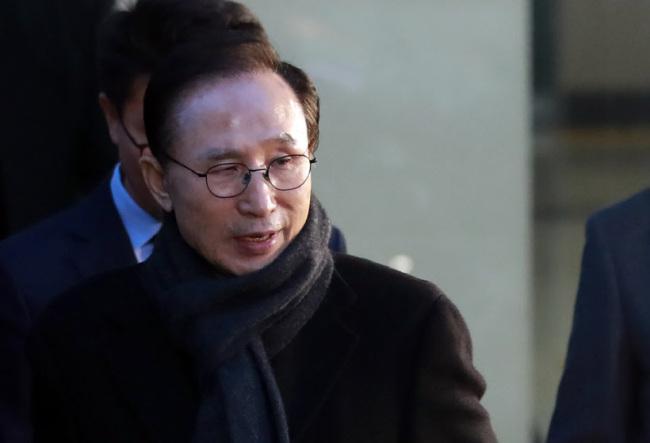 Former President Lee Myung-bak. Yonhap