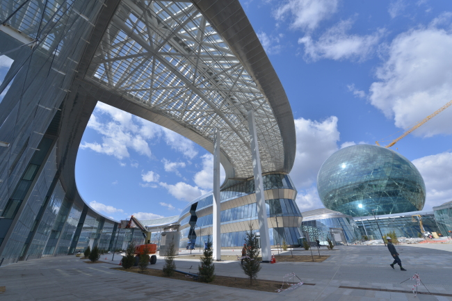 Astana International Financial Center is located at the site of Expo Astana 2017 on the outskirts of the Kazakh capital. (Astana Times)