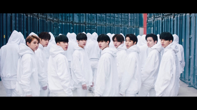 A screen grab from the trailer video for Stray Kids' upcoming debut showcase (JYP Entertainment)