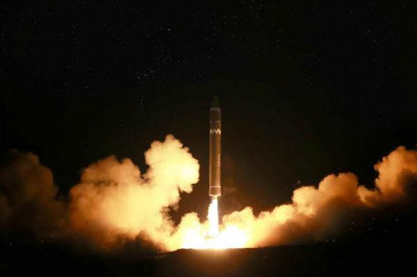 North Korea`s Hwasong-15 ballistic missile. Yonhap