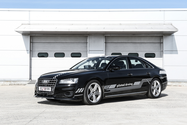 The Audi A8 has received government permit to test out its level 3 automation on local roads. (Audi Volkswagen Korea)