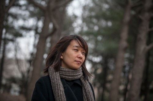 South Korean novelist Han Kang (Photo by Jean Chung) (Photo courtesy of Han Kang-Yonhap)