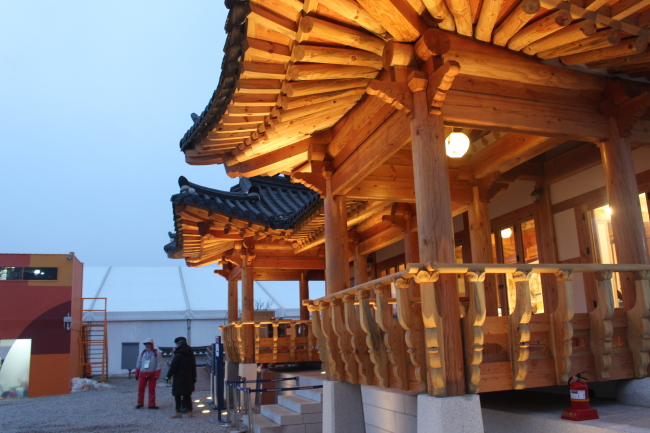The Traditional Culture Pavilion & Traditional Culture Plaza in the PyeongChang Olympic Plaza in Daegwallyeong-myeon, Gangwon Province. (Yoon Min-sik/The Korea Herald)