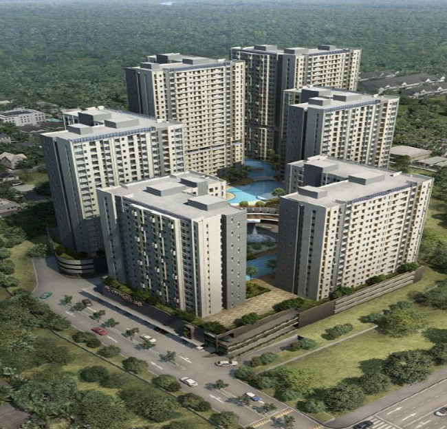 An artist's impression of the City Gate 88 residential complex that GS E&C and Vasanta Group are to construct in western Jakarta, Indonesia (GS E&C)