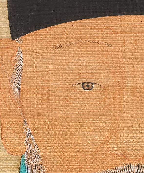 A close-up of the portrait of Yi Seong-gye, the founding king of Joseon Kingdom (Nulwa)