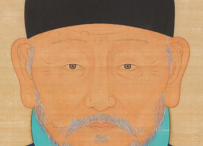 A portrait of Yi Seong-gye, founder of the Joseon Kingdom, shows a lump above his right eyebrow. (Nulwa)