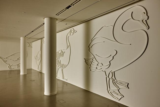 "An installation view of Kim Min-ae's exhibition ""Girogi"" (Atelier Hermes)"