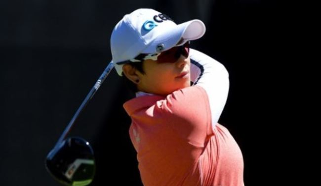 Ji Eun-hee of South Korea tees off at the first hole during the final round of the Kia Classic on the LPGA Tour at Aviara Golf Club in Carlsbad, California, on March 25. (Yonhap)