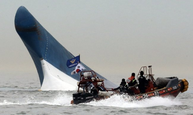 The sinking of the ferry Sewol. Yonhap