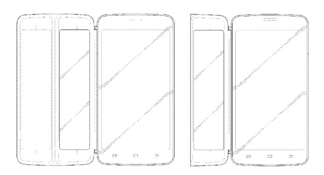 A design of a foldable electronic device by Samsung Electronics (USPTO)