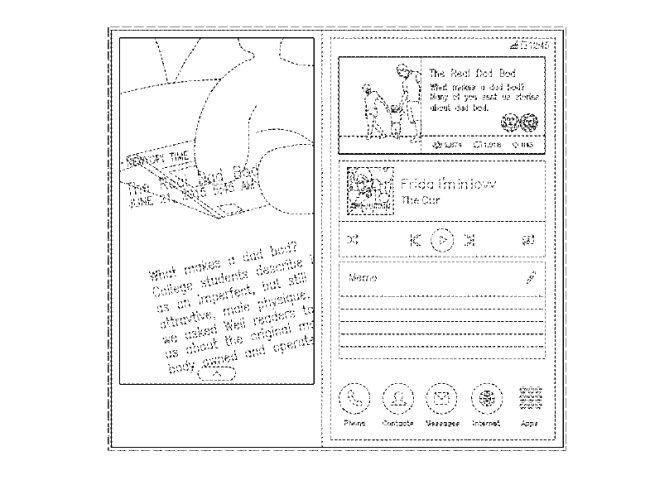 An image of transitional graphical user interface by Samsung Electronics (USPTO)