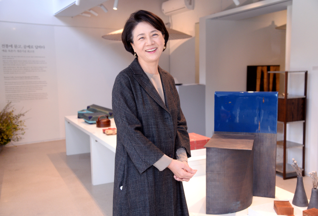 Yeol Chairwoman Kim Young-M'Young poses at the organization's headquarters in Bukchon, Seoul, on March 22. (Park Hyun-koo/The Korea Herald)