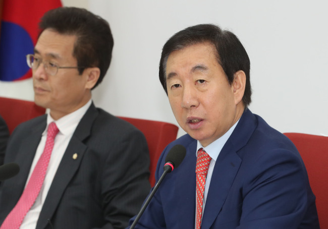 Floor leader Rep. Kim Sung-tae of main opposition Liberty Korea Party (Yonhap)