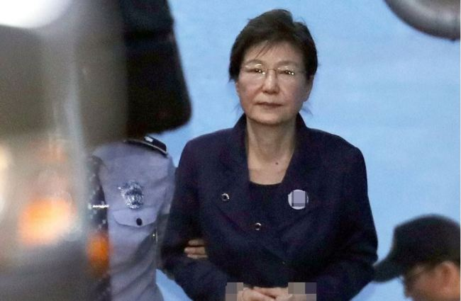 Ex-President Park Geun-hye on Oct. 16, 2017. (Yonhap)