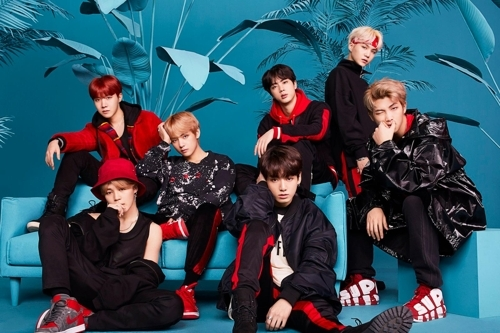 A publicity file photo of K-pop act BTS provided by Big Hit Entertainment (Yonhap)