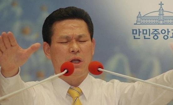 Pastor Lee Jae-rock (Screen-captured from YouTube footage)