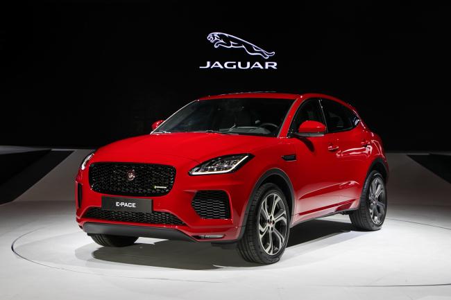 Jaguar Land Rover Korea rolls out Jaguar's first compact SUV E-Pace here on Monday. (Jaguar Land Rover Korea)
