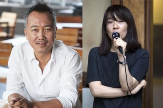 Media artist and film director Im Heung-soon (left) and writer Han Kang (Yonhap)