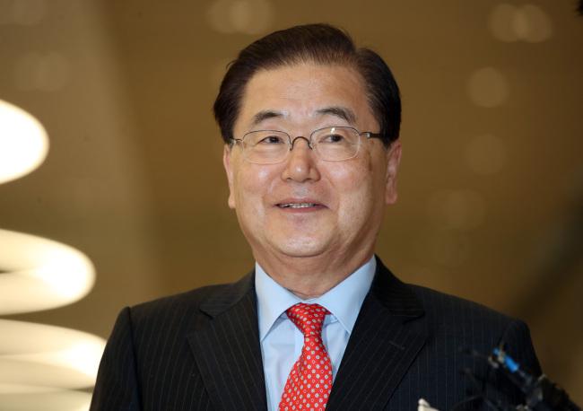 National Security Office chief Chung Eui-yong (Yonhap)