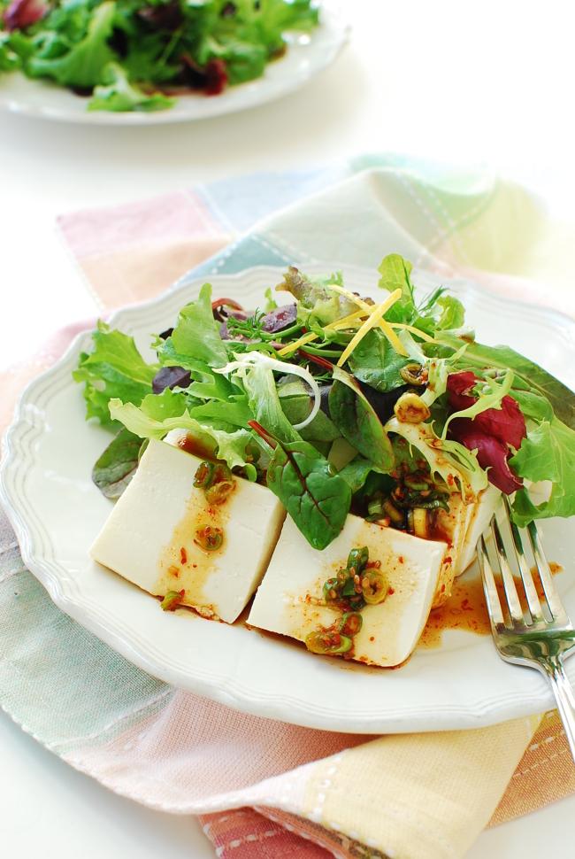 Tofu salad (Korean Bapsang)