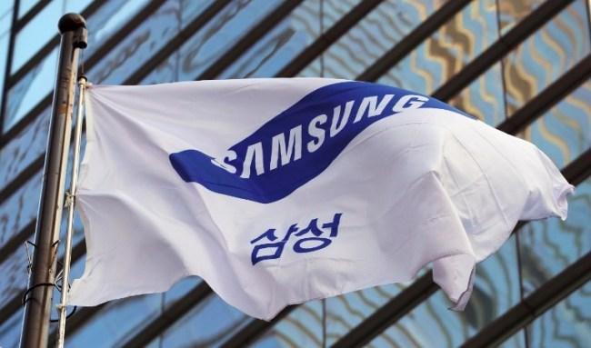 A flag bearing the Samsung logo (AFP-Yonhap)