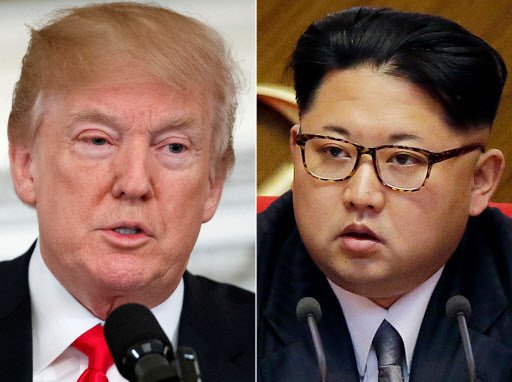 US President Donald Trump (left), North Korean leader Kim Jong-un (Yonhap)
