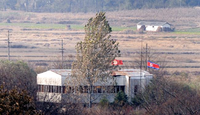North Korean village across the DMZ. (Park Hyun-koo / The Korea Herald)