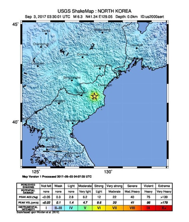 N koreas denuclearization may proceed speedily this file photo from february of 2017 shows a map marking the location of an artificial earthquake in north korea thought to be result of pyongyangs gumiabroncs Image collections