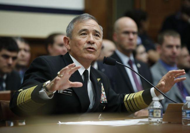 US Admiral Harry Harris (AP/Yonhap)