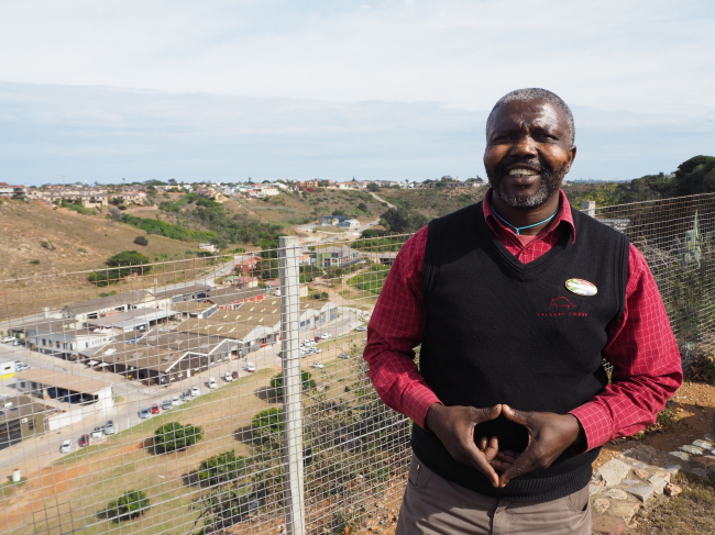Michael Makeleni, a tour guide in Port Elizabeth, is of the Xhosa tribe. (Joel Lee/The Korea Herald)