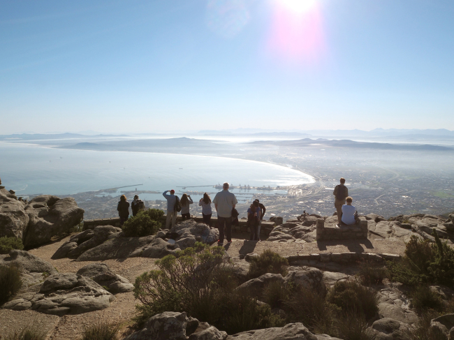 From the Table Mountain overlooking Cape Town (Joel Lee/The Korea Herald)