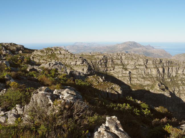 From the Table Mountain overlooking the South Atlantic Ocean (Joel Lee/The Korea Herald)