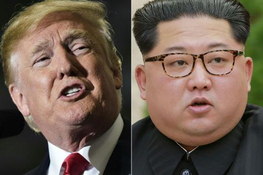 US President Donald Trump (left), North Korean leader Kim Jong-un (Yonhap)