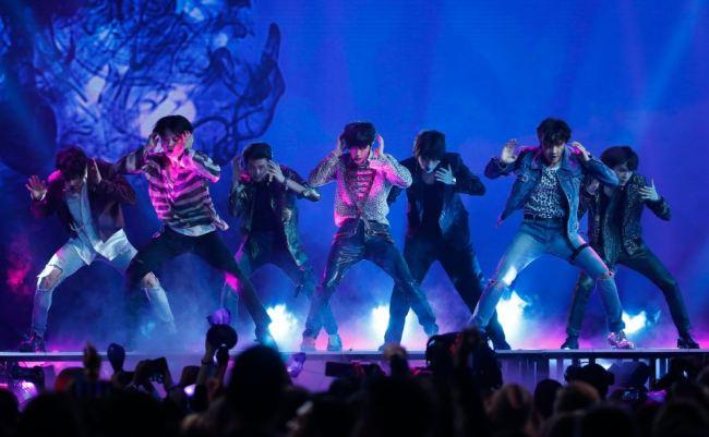 K-pop boy band BTS performs
