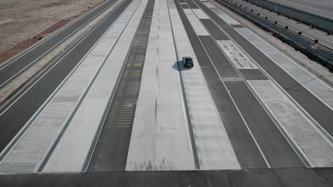 Hyundai Mobis` test driving track in Seosan (Hyundai Mobis)