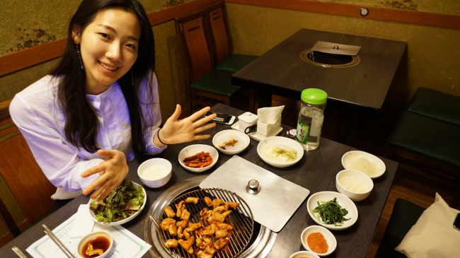 A table of yangdaechang (By Lim Jeong-yeo/The Korea Herald)