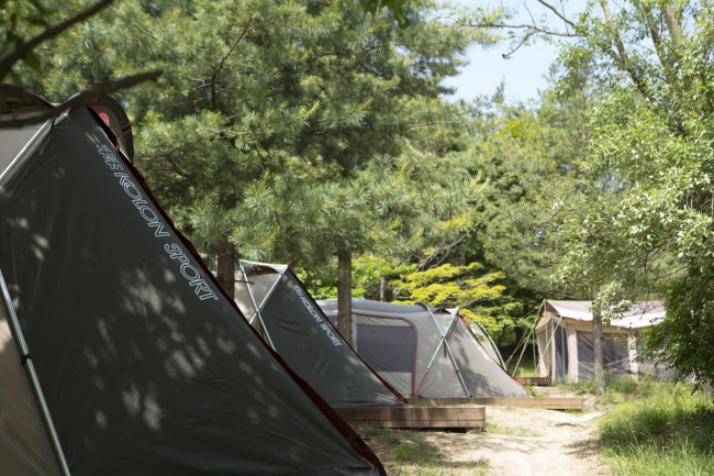 Kolon Sport Camping Park is located in Goesan County, North Chungcheong Province. Photo: Kolon Sport