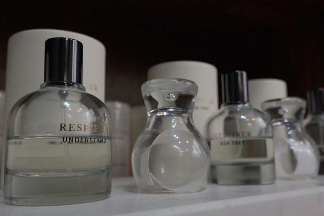 Perfumes from Respirer, in Salon du Parfumeur (Park Ju-young/The Korea Herald)