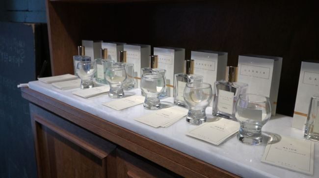 Perfumes from Garnir, in Salon du Parfumeur (Park Ju-young/The Korea Herald)