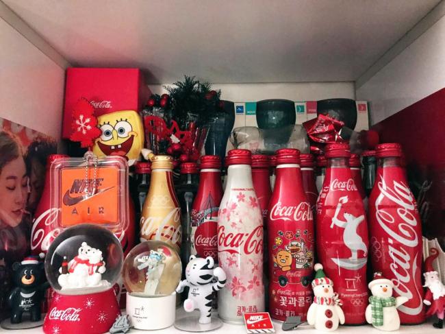 Bang Se-woong collects Coca-Cola-inspired items. (Bang Se-woong)