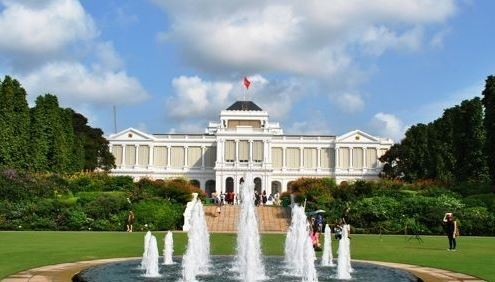 The photo shows the Istana, Singapore`s presidential palace, on May 14, 2018. (Yonhap)