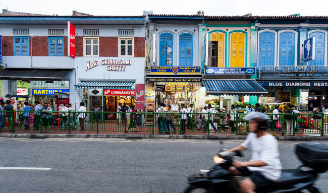 A row of shophouses in Singapore's Little India (Singapore Tourism Board)