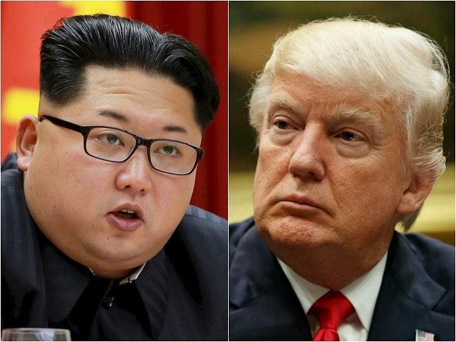 North Korean leader Kim Jong-un, left, and US President Donald Trump. (Reuters/AP)